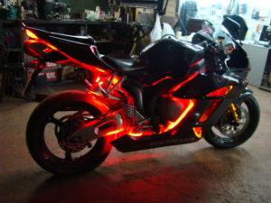 установка подсветки на мотоцикле CBR1000