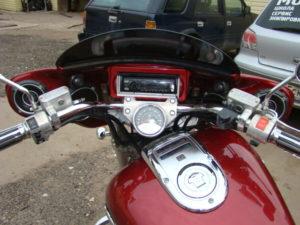 установка музыки на мотоцикл