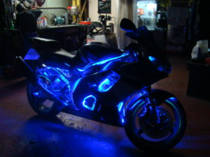 установка подсветки на мотоцикле R1