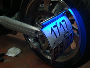 подсветка номера на мотоцикле